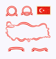 Colors of Turkey vector image