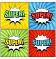 comic colorful super wordings set vector image vector image