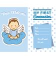 communion boy vector image vector image