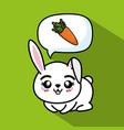 cute and lovely bunny animal cartoon vector image
