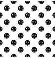Devious smiley pattern simple style vector image vector image