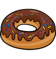 donut clip art cartoon vector image vector image