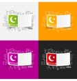 Drawing business formulas koran vector image vector image