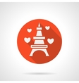 Eiffel Tower romantic trip flat icon vector image vector image