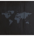 engraving world map on black paper texture vector image