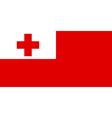Flag of Tonga vector image vector image