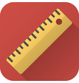 flat icon toy ruler vector image vector image