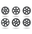 gear wheel icons vector image