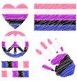 Genderfluid pride design elements vector image vector image