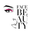 glamour fashion beauty woman face vector image vector image
