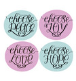 hand lettering choose joy peace love hope vector image vector image