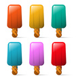 Ice Cream Set Colorful Ice Milk Collection vector image