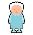 isolated grandmother icon vector image