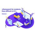 isometric article for education vector image
