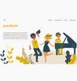 jazz music studio landing web page concept banner vector image vector image