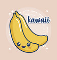 kawaii banana icon vector image vector image