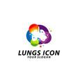lung care logo lungs health logo template icon vector image