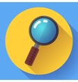 Magnifying Glass Search Icon Flat design vector image vector image