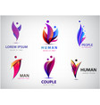 man human logos people community creative hub vector image vector image