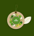 Nature banner Eco organic labels and cards with vector image vector image