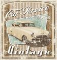 old car vintage crack vector image vector image