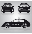 police car from front back and side view eps10 vector image