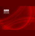 red color wave abstract background technology vector image vector image