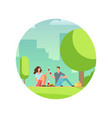 resting people on picnic vector image vector image