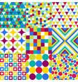 retro geometric pattern set vector image vector image