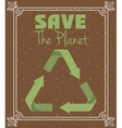 save the planet design vector image vector image