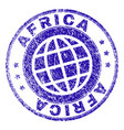 scratched textured africa stamp seal vector image vector image