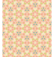 Seamless floral pattern of hearts vector image