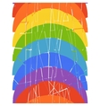 Seamless vertical pattern with rainbow vector image vector image