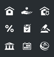 set mortgage icons vector image vector image