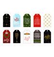 set of 10 christmas and new year holiday gift tags vector image
