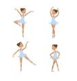 Set of cute little ballerinas vector image
