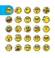 Set of emoji bubble emoticons vector image vector image