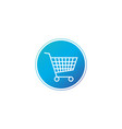 shopping cart purschase symbol in circle add to vector image