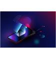smartphone appliances via internet futuristic vector image vector image
