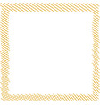 square stitched patch frame squared embroidery vector image vector image