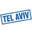 Tel Aviv blue square grunge stamp on white vector image vector image