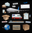 transportation delevery shipping post office vector image vector image