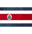 True proportions Costa Rica flag with texture vector image vector image