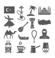 turkey culture icons vector image vector image