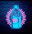 vintage aloe vera emblem glowing neon sign vector image vector image
