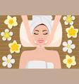 woman having beauty treatment vector image