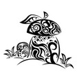 zentangle stylized mushrooms vector image