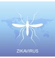 Zika virus pattern wallpapers with World Map Zika vector image