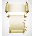 Vertical old scroll paper vector image