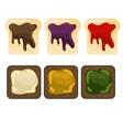 Wheat and rye bread slice with addition of vector image
